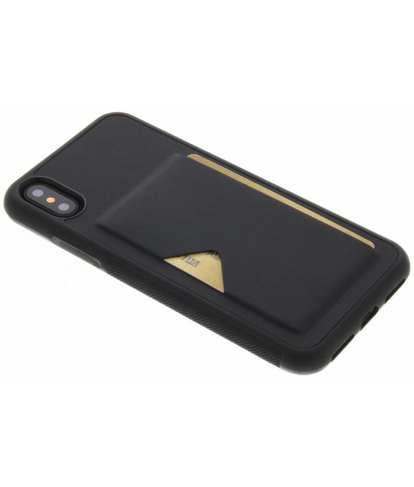 Dux Ducis Zwart Cardslot Hardcase iPhone Xs / X