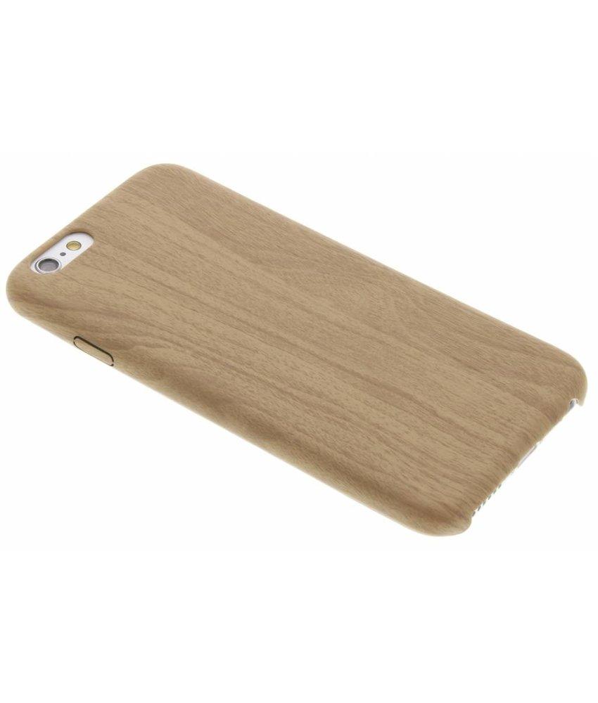 Beige Houten TPU case iPhone 6 / 6s