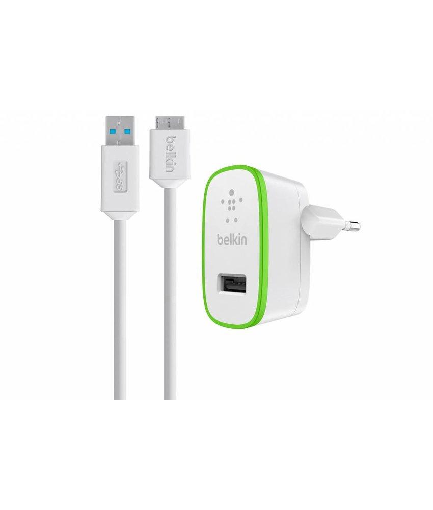 Belkin thuislader 2,1A + Micro-USB 3.0 B kabel - Wit