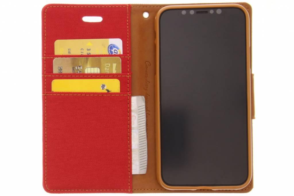 Toile Rouge Cas De Journal Pour Samsung Galaxy S8, Plus
