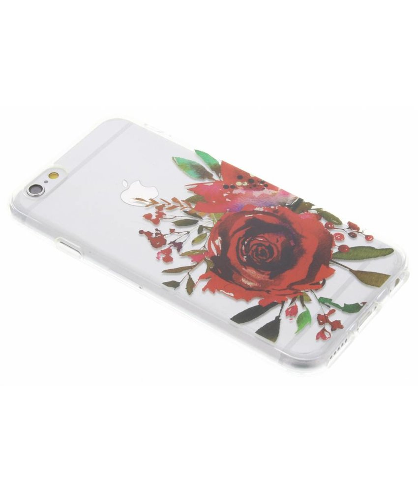 Red Rose TPU hoesje iPhone 6 / 6s