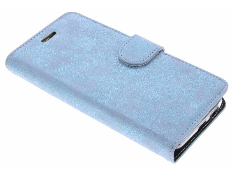 Samsung Galaxy A5 (2017) hoesje - Accezz Blauwe Glitter Wallet