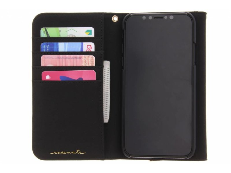 Case-Mate Zwarte Folio Wristlet voor de iPhone Xs / X