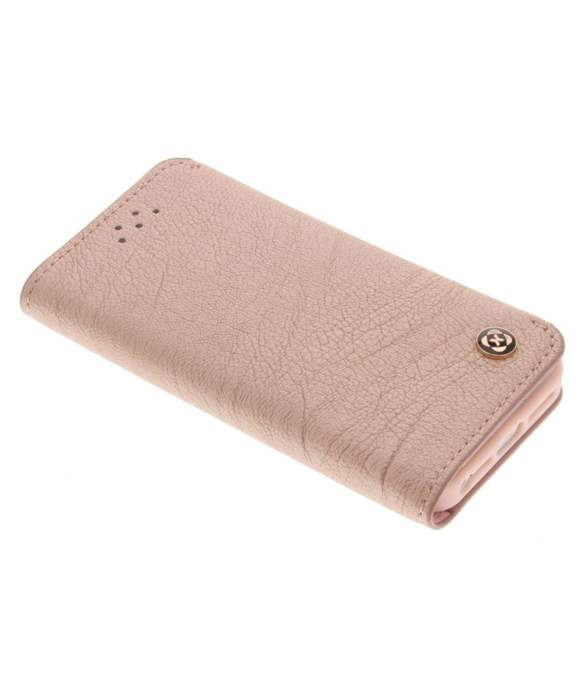 Roze wallet TPU booktype hoes iPhone 5 / 5s / SE