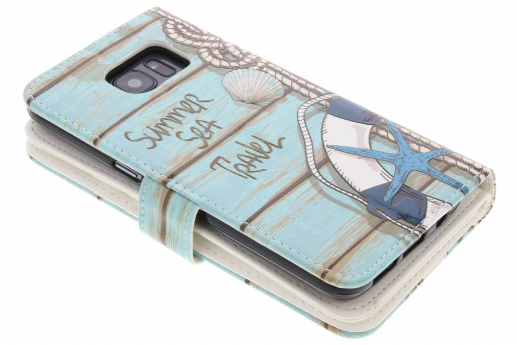 Conception Mer Portefeuille Tpu Pour Samsung Galaxy S7 icWSKseJew