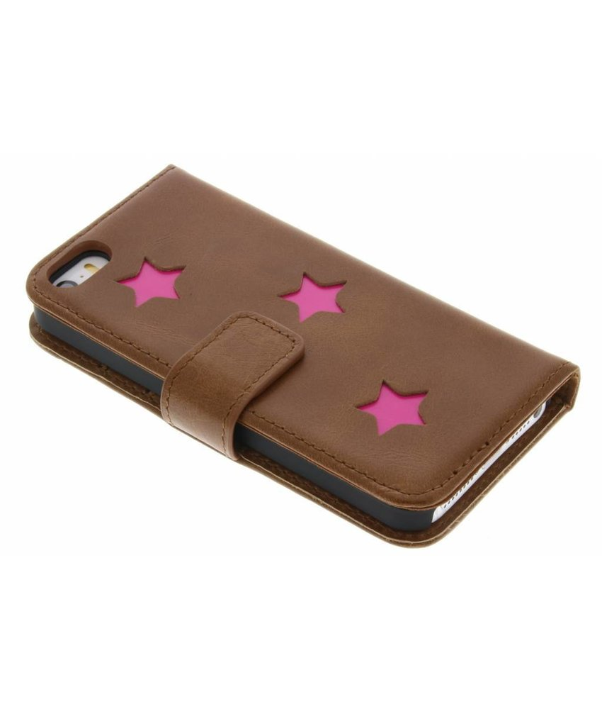 Fabienne Chapot Pink Reversed Star Booktype iPhone 5 / 5s / SE