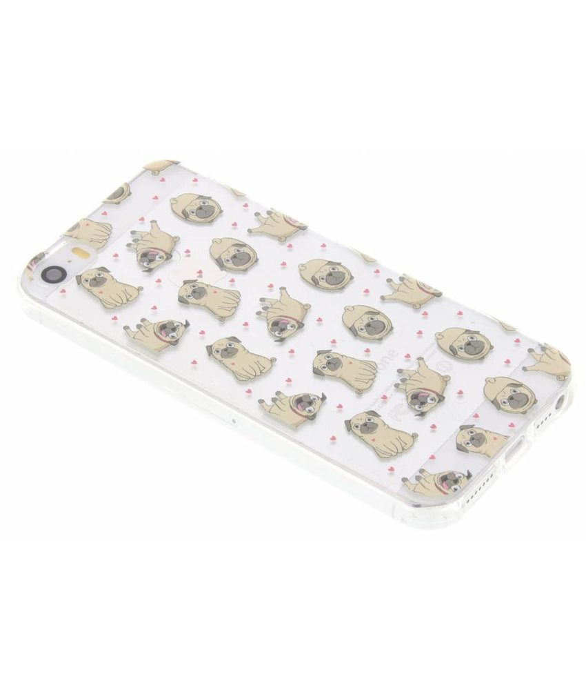 Pug Love TPU hoesje iPhone 5 / 5s / SE