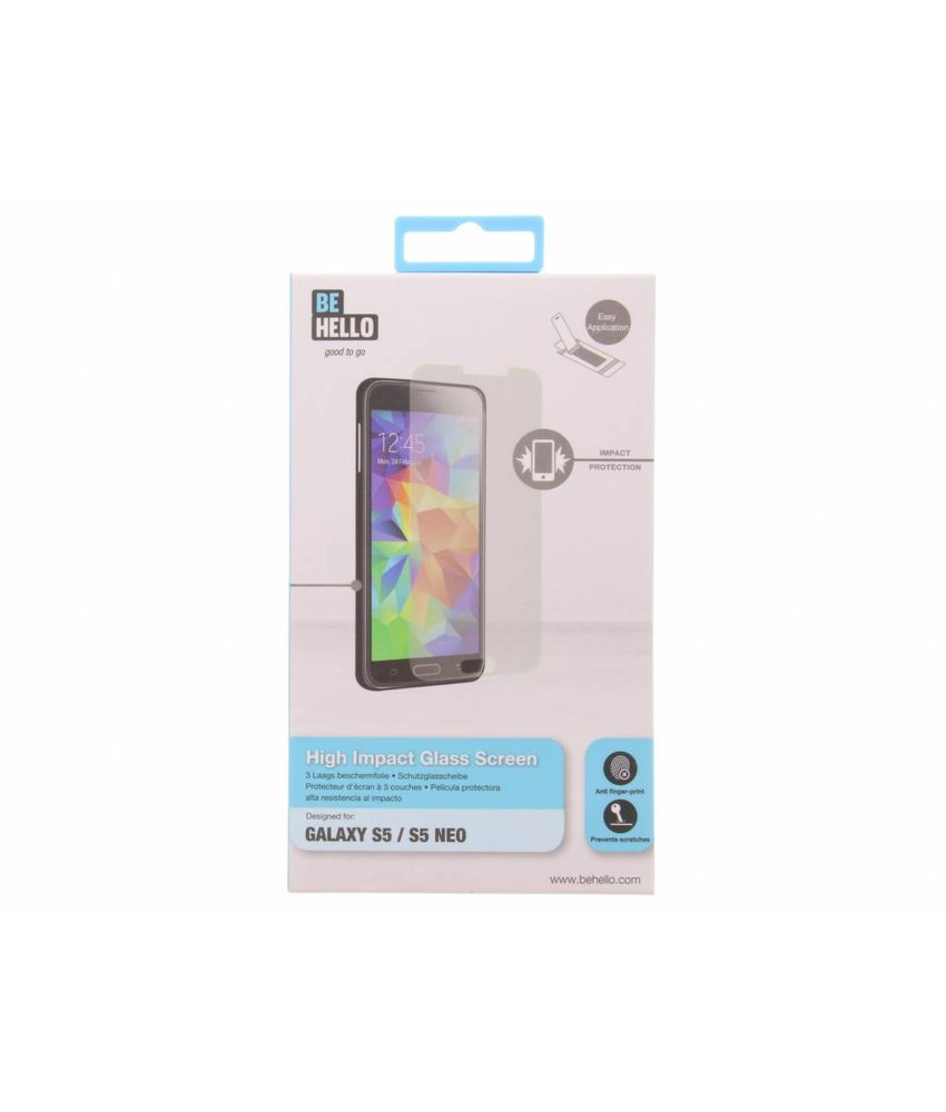 Be Hello High Impact Glass Screenprotector Samsung S5 (Plus) / Neo
