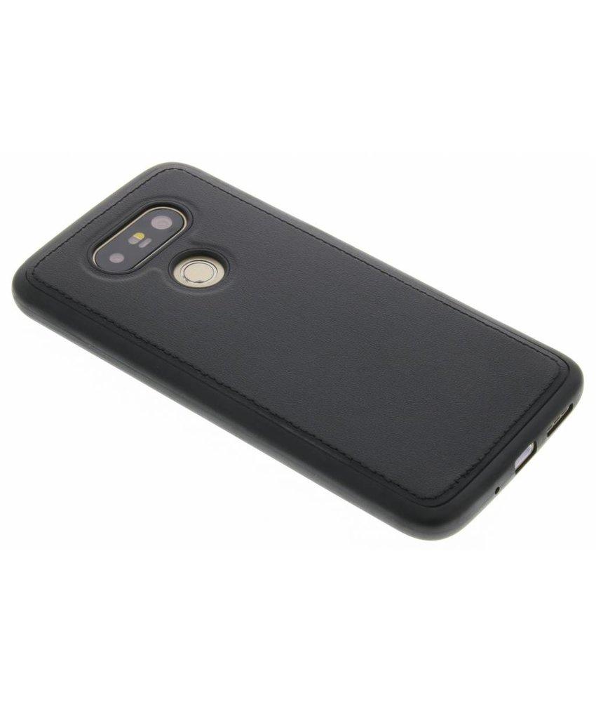 Zwart lederen TPU case LG G5 (SE)