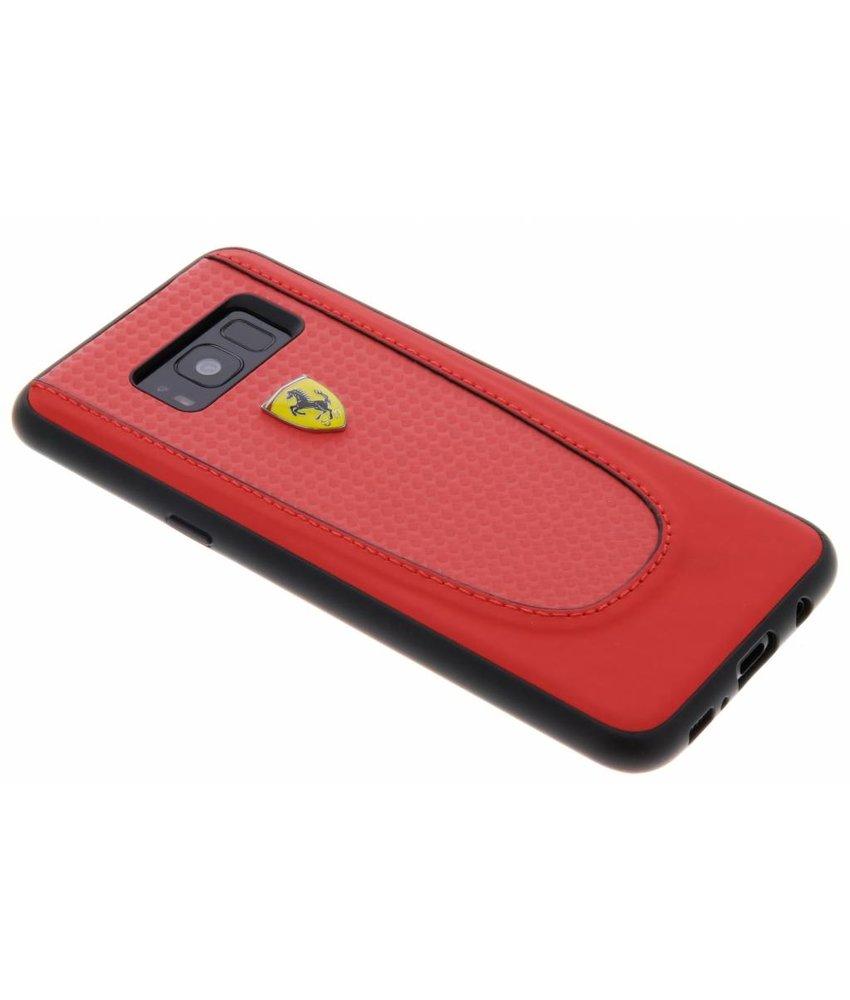 Ferrari Rood Pit Stop Carbon Hardcover Samsung Galaxy S8 Plus
