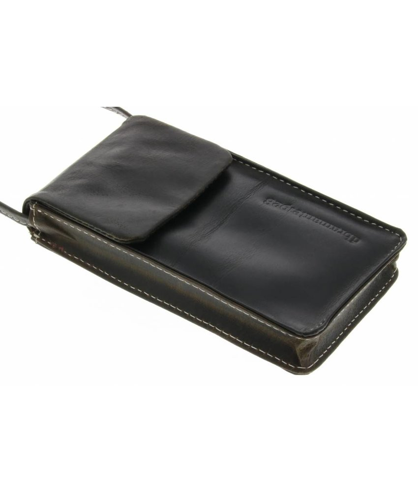 dbramante1928 Leather Lanyard Case - Hunter Dark