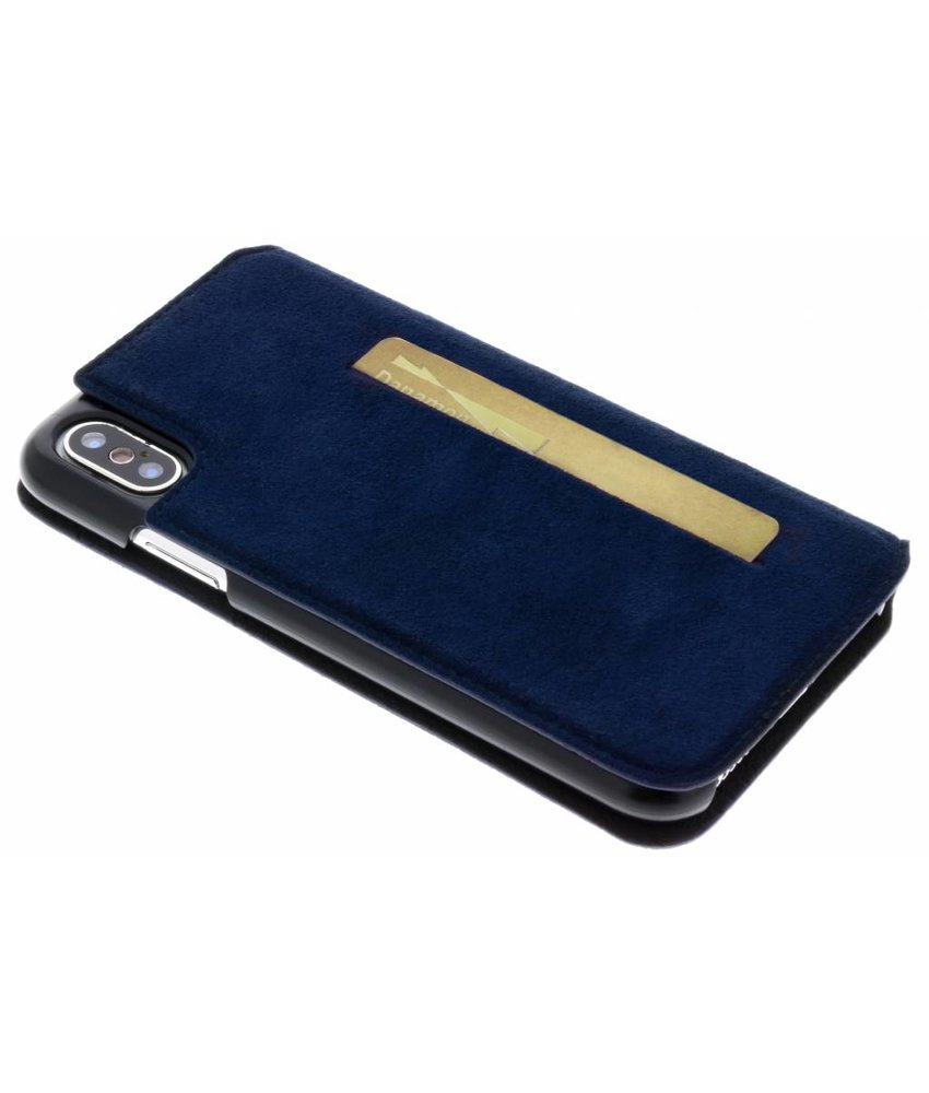 Bugatti Donkerblauw Parigi Ultrasuede Booklet iPhone X