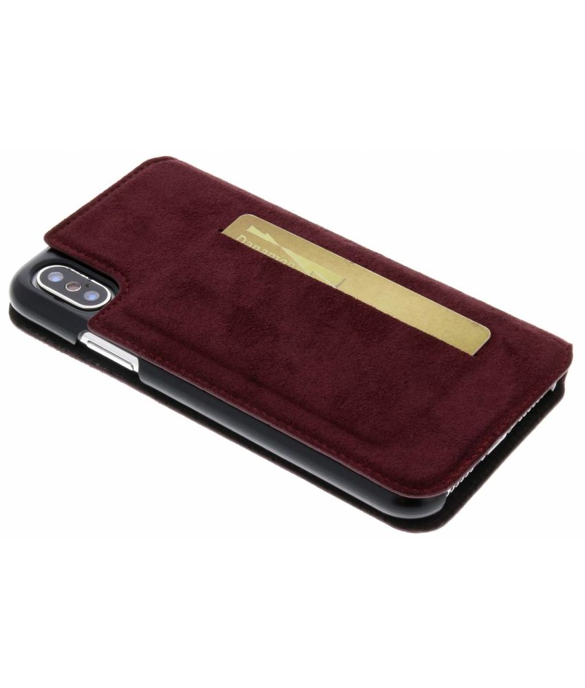 Bugatti Rood Parigi Ultrasuede Booklet iPhone X