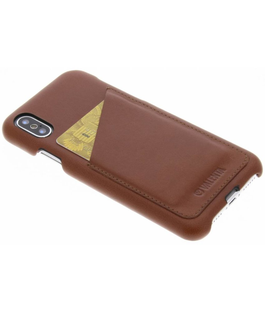 Valenta Bruin Back Cover Classic Luxe iPhone Xs / X