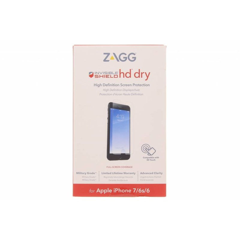 InvisibleShield HD Dry Screenprotector iPhone 8 / 7 / 6(s)