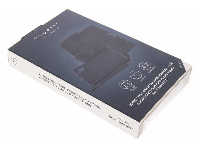 iPhone X hoesje - Bugatti Zwarte BookCover Zürich