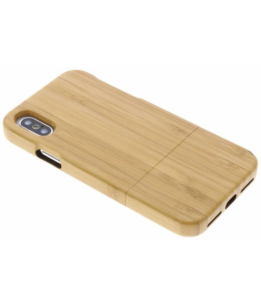 Bamboo echt houten hardcase hoesje iPhone Xs / X