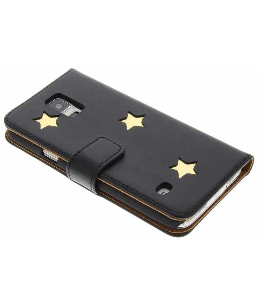 Fab. Gold Reversed Star Booktype Samsung Galaxy S5 (Plus) / Neo