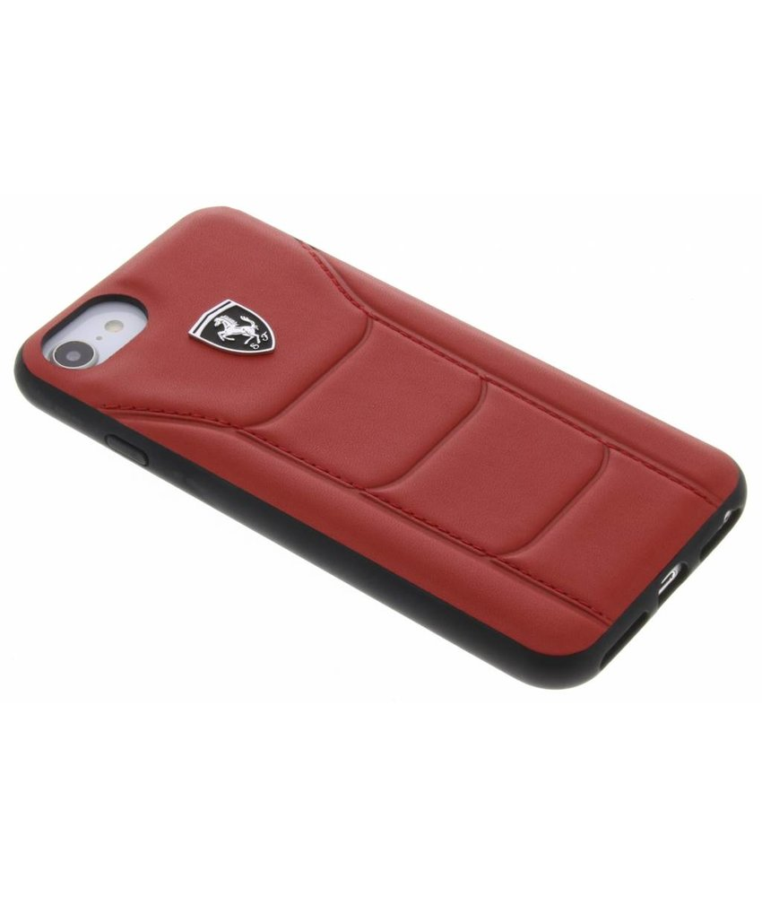 Ferrari Rood Heritage Leather Hard Case iPhone 8 / 7 / 6 / 6s