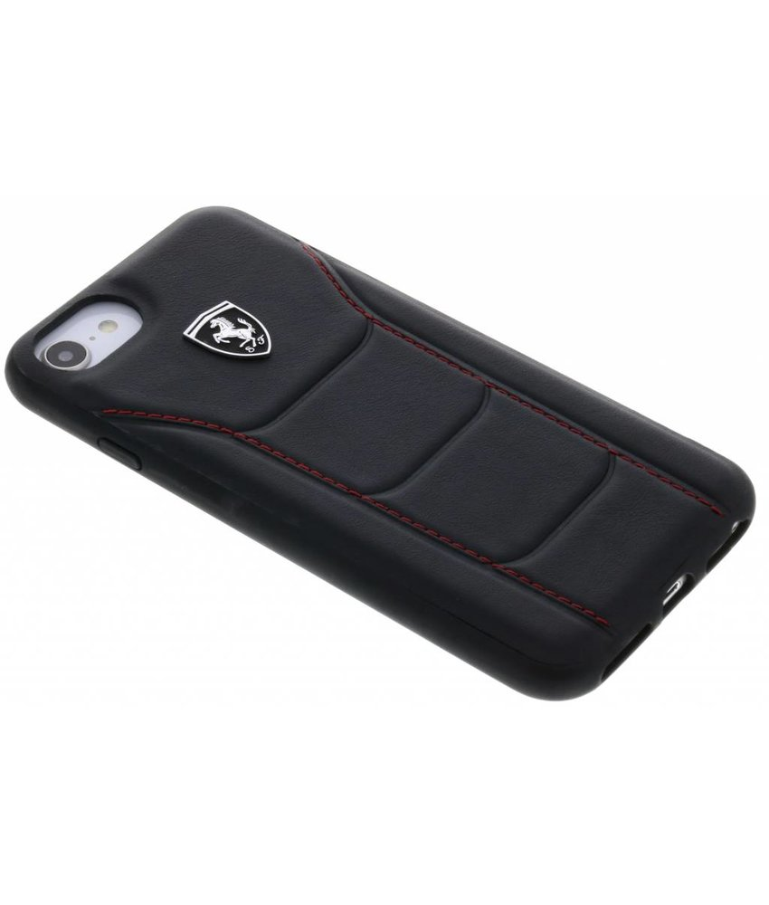 Ferrari Zwart Heritage Leather Hard Case iPhone 8 / 7 / 6 / 6s