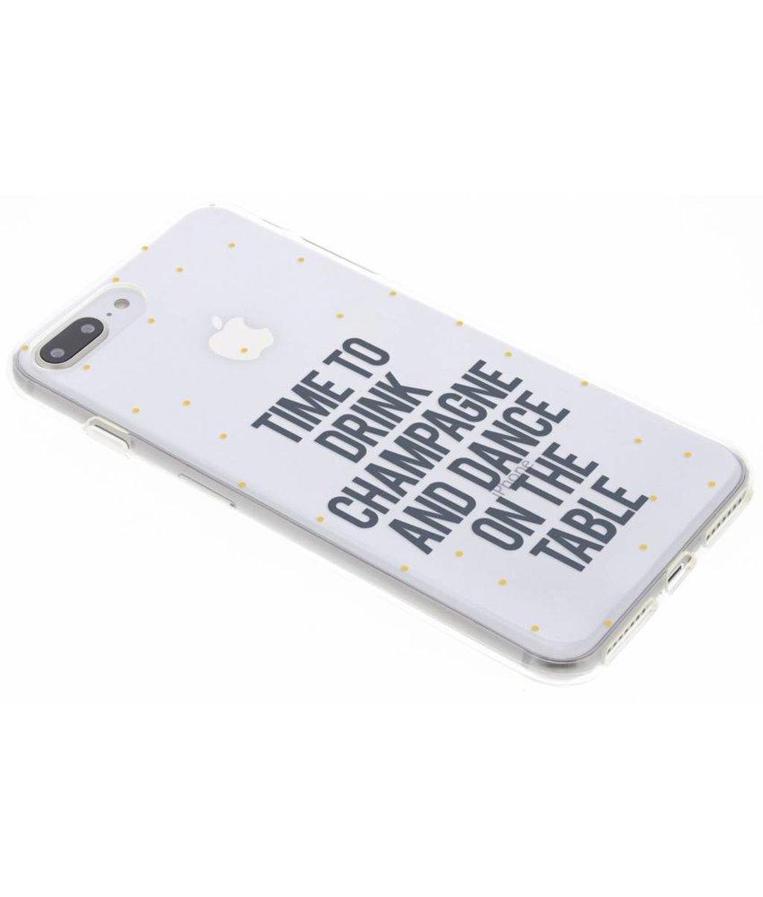Quote design siliconen hoesje iPhone 8 Plus / 7 Plus