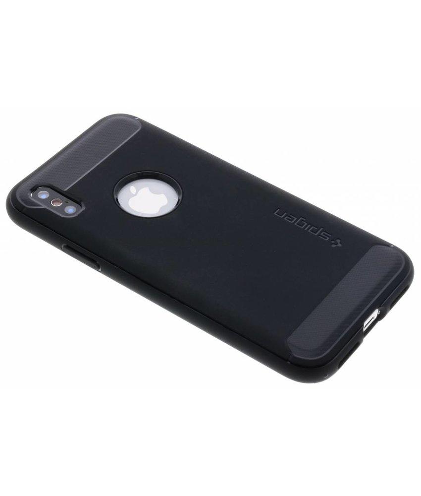Spigen Zwart Rugged Armor Case iPhone X