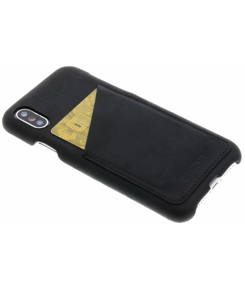 Valenta Zwart Back Cover Classic Luxe iPhone Xs / X