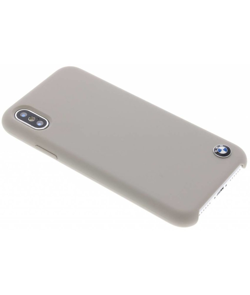 BMW Taupe Silicone Hard Case iPhone Xs / X