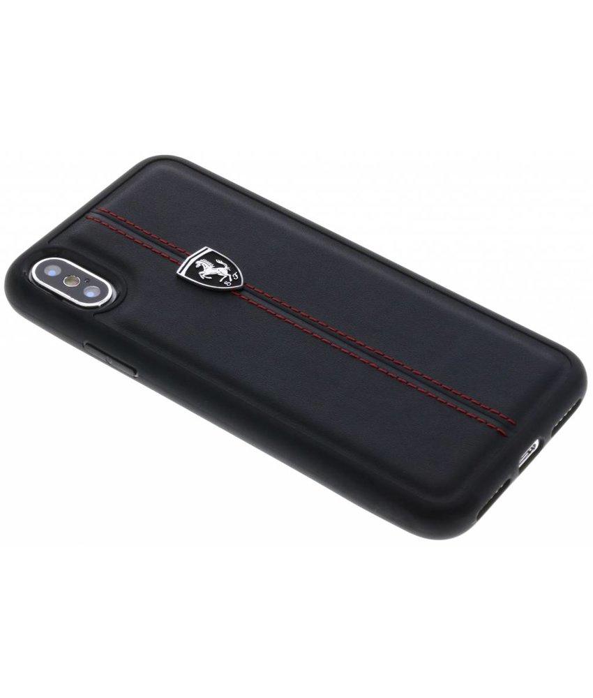 Ferrari Zwart Heritage Vertical Stripe Hard Case iPhone X