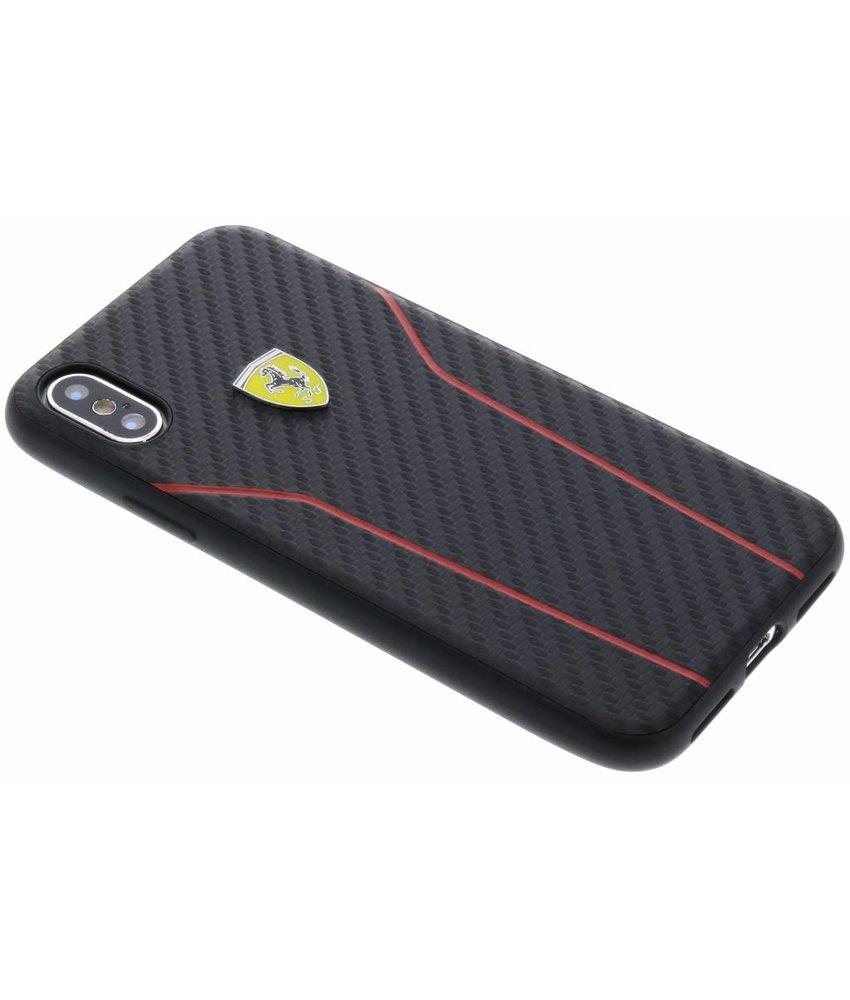 Ferrari Zwart On Track Carbon Hard Case iPhone X