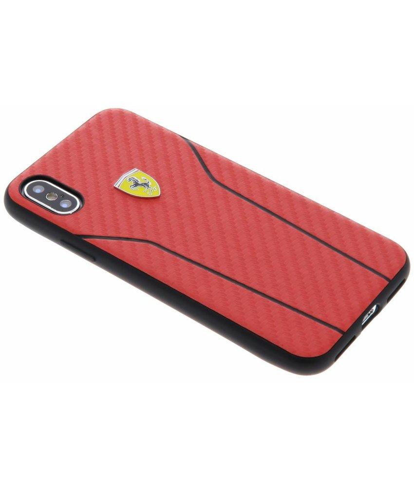Ferrari Rood On Track Carbon Hard Case iPhone X