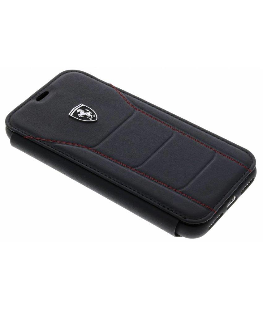 Ferrari Zwart Leather Booktype Case iPhone X