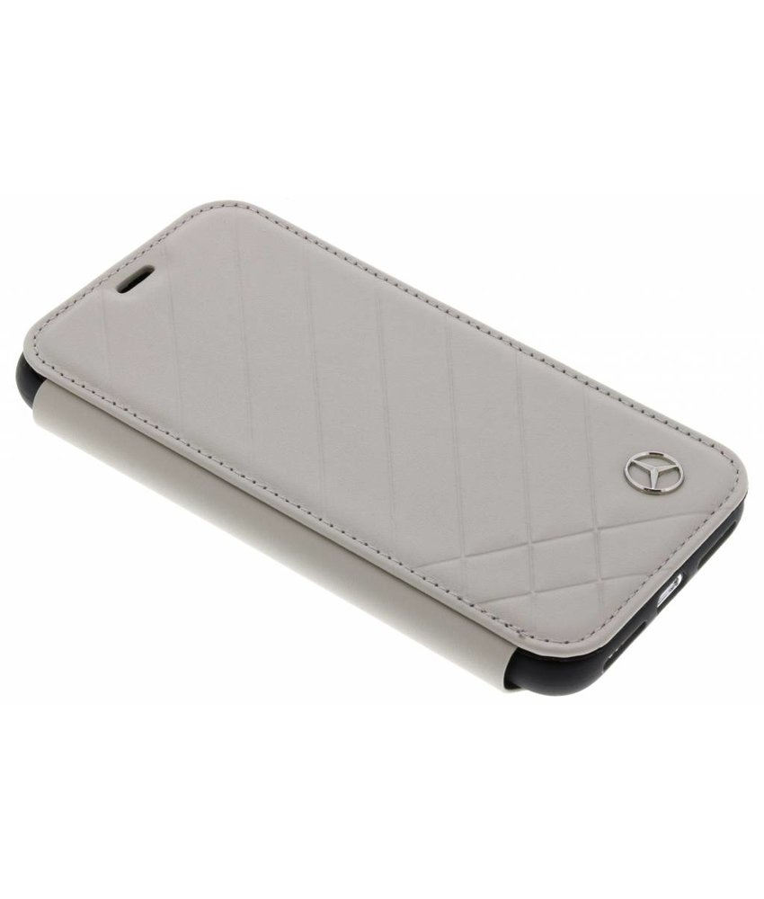 Mercedes-Benz Taupe Pattern II Booktype Case iPhone X