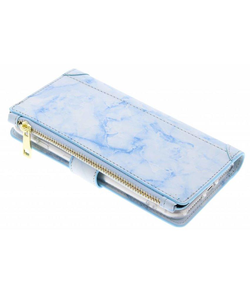Marmer design luxe portemonnee hoes iPhone 8 Plus / 7 Plus