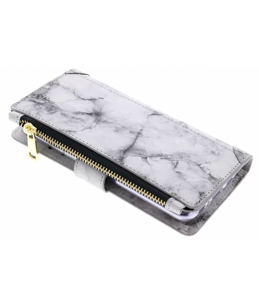 Marmer design luxe portemonnee hoes Samsung Galaxy S8