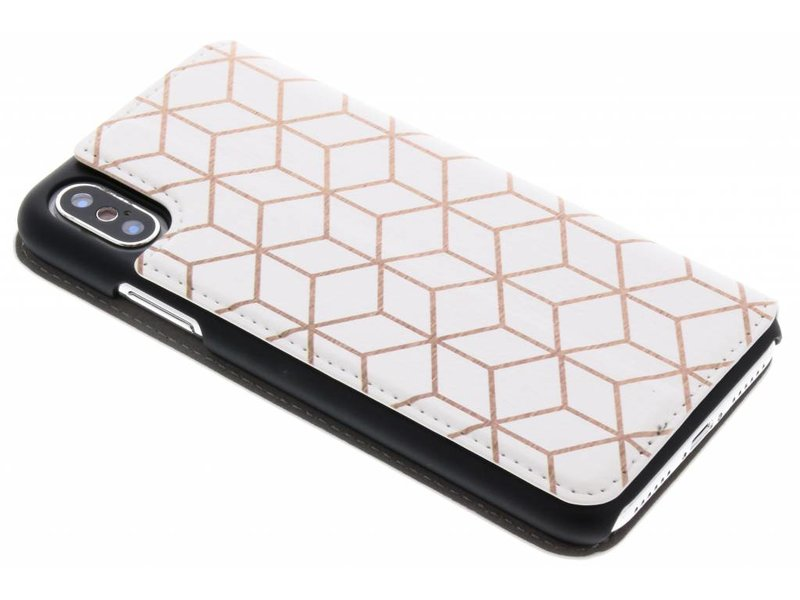 iPhone X hoesje - Cubes Rose Gold Design