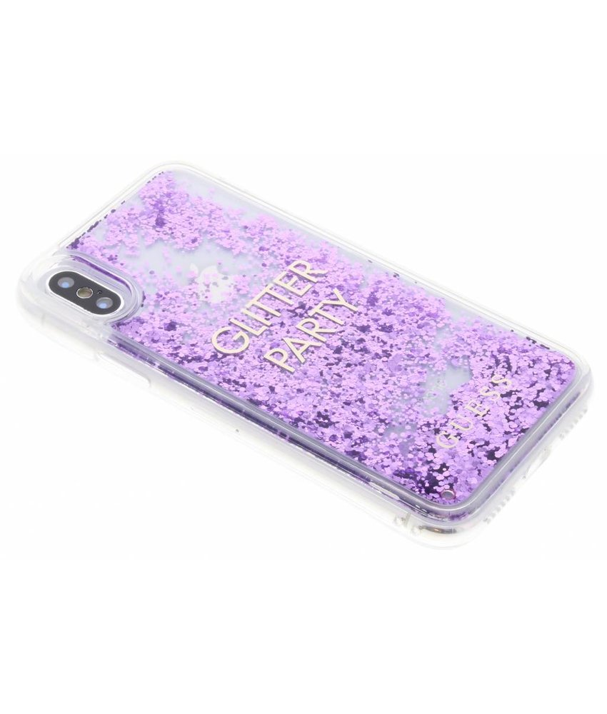 Guess Liquid Glitter Quote Hardcase iPhone X