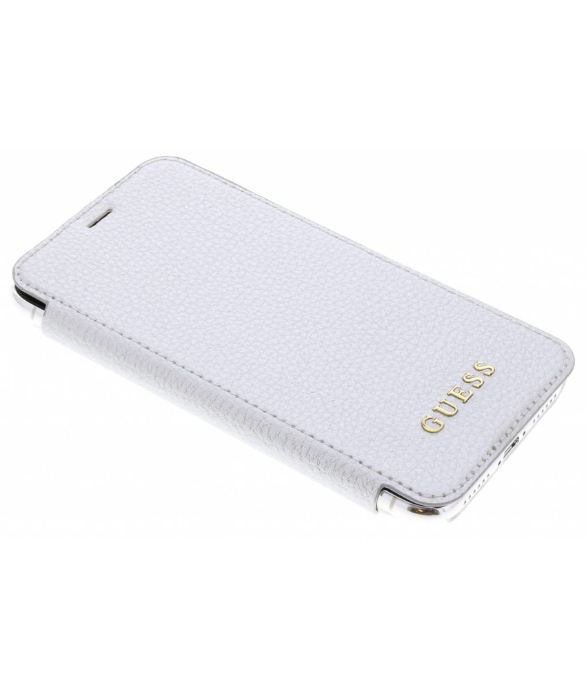 Guess Zilver Transparent Back Foliocase iPhone X