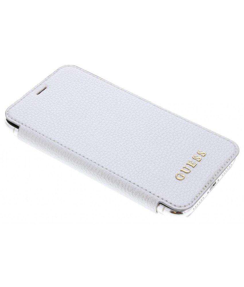 Guess Zilver Transparent Back Foliocase iPhone Xs / X