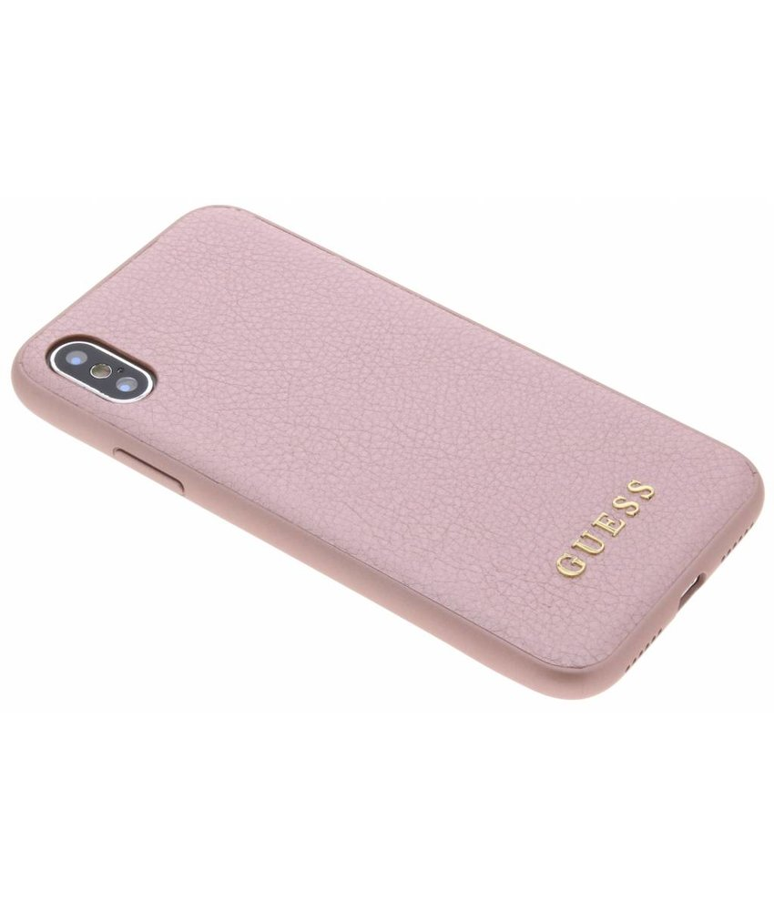 Guess Roze iriDescent Hardcase iPhone Xs / X