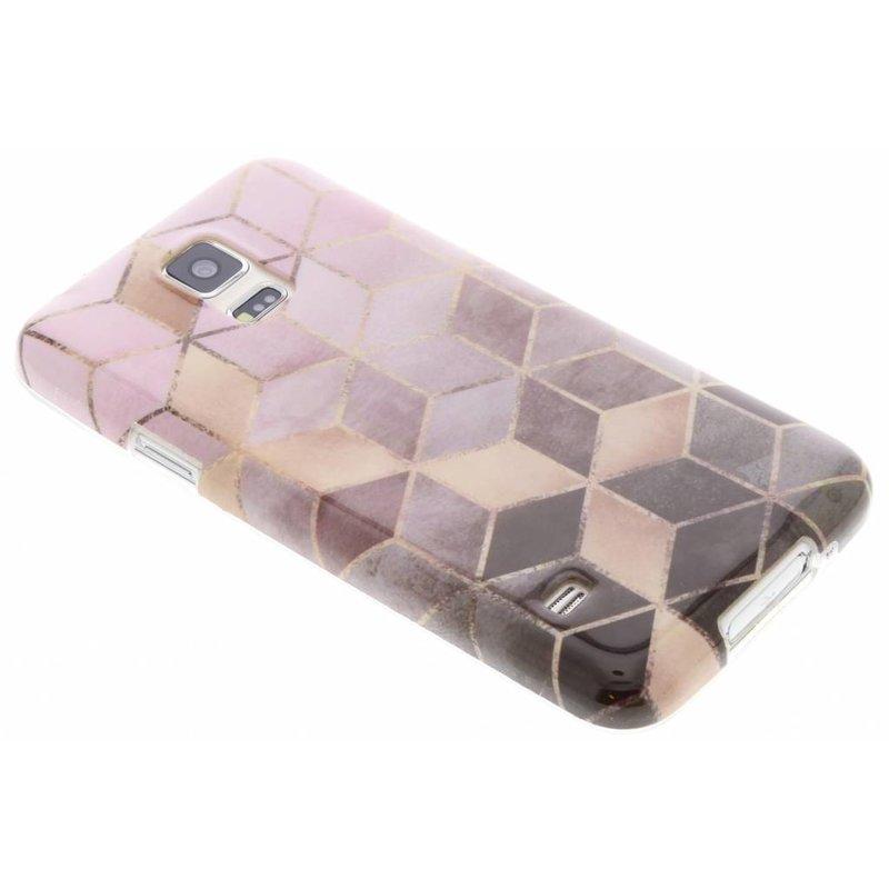 tui En Silicone En Marbre Noir Pour Samsung Galaxy S5 (plus) / Neo if13yozmc