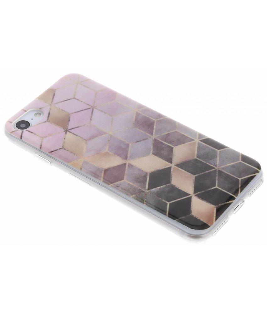 Marmer siliconen hoesje iPhone 8 / 7