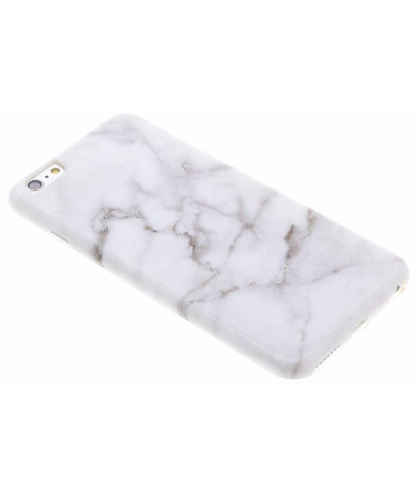 Marmer siliconen hoesje iPhone 6(s) Plus