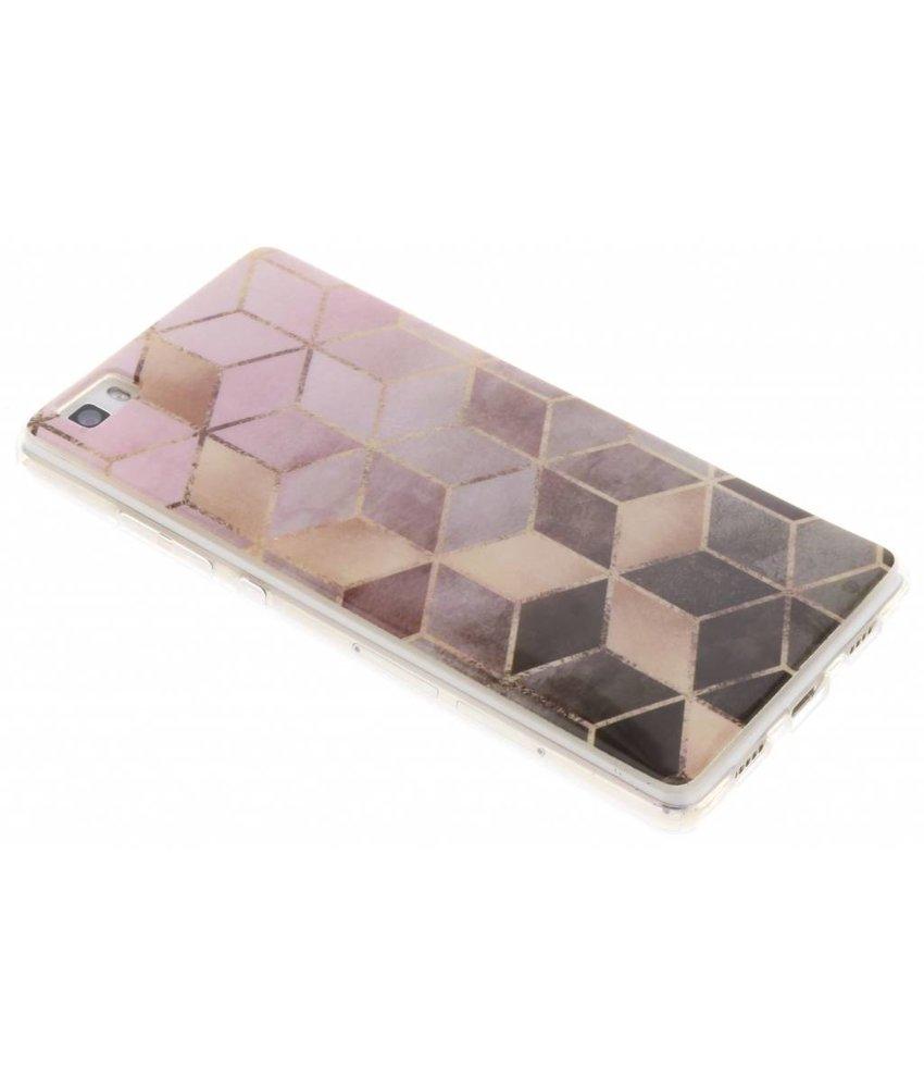Marmer siliconen hoesje Huawei P8 Lite