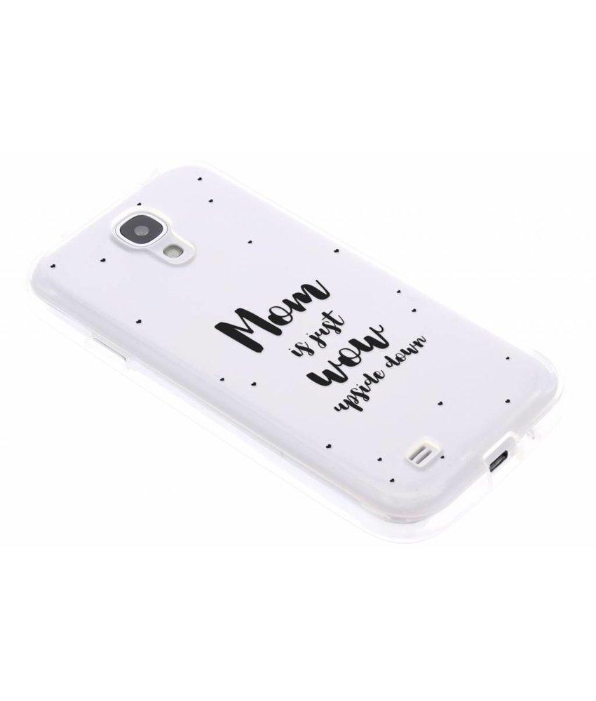 Quote design TPU hoesje Samsung Galaxy S4