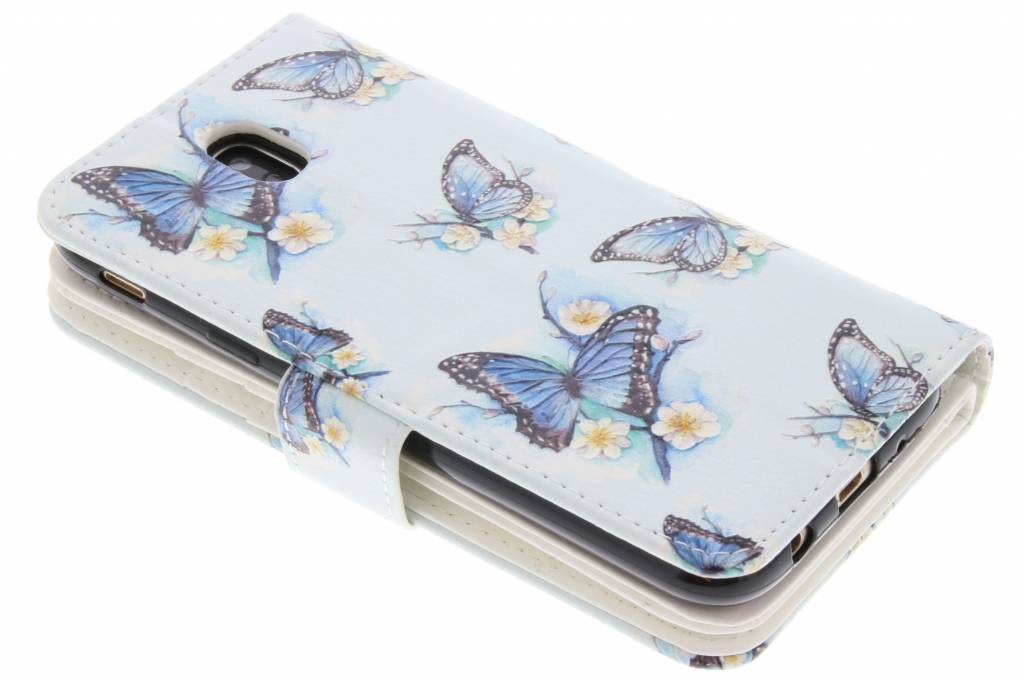 Papillons Conception Porte-monnaie Tpu Pour Samsung Galaxy J7 (2016) pPPiJ
