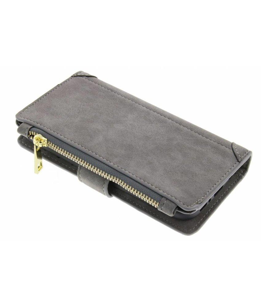 Grijs luxe portemonnee hoes Samsung Galaxy Note 8