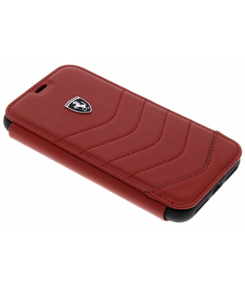 Ferrari Rood Heritage Leather Book Cover iPhone X