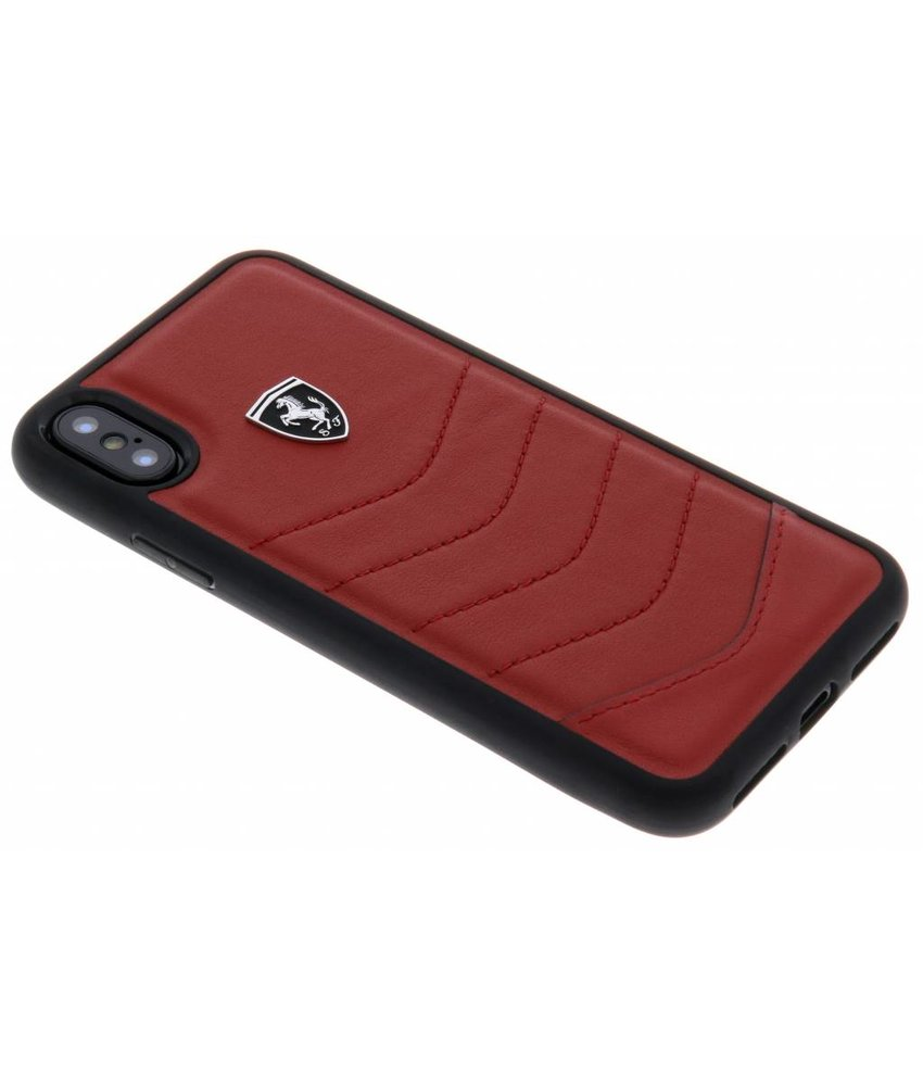 Ferrari Rood Heritage Leather Quilted Hard Case iPhone X