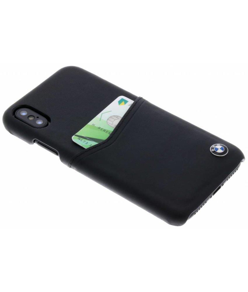BMW Zwart Leather Card Case iPhone X